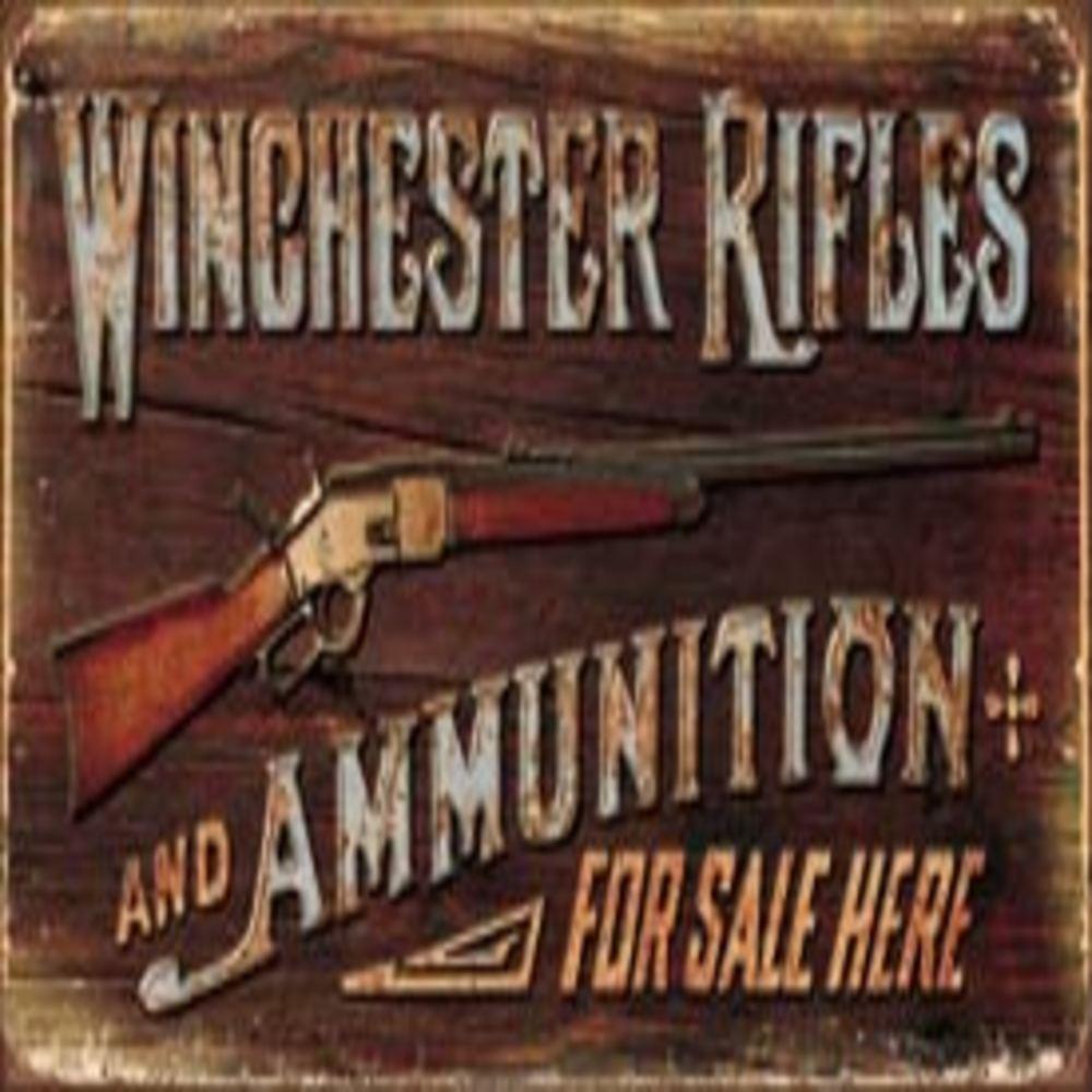 "Winchester - Rifles & Ammo  16""W x 8.5""H  SKU # 1862"