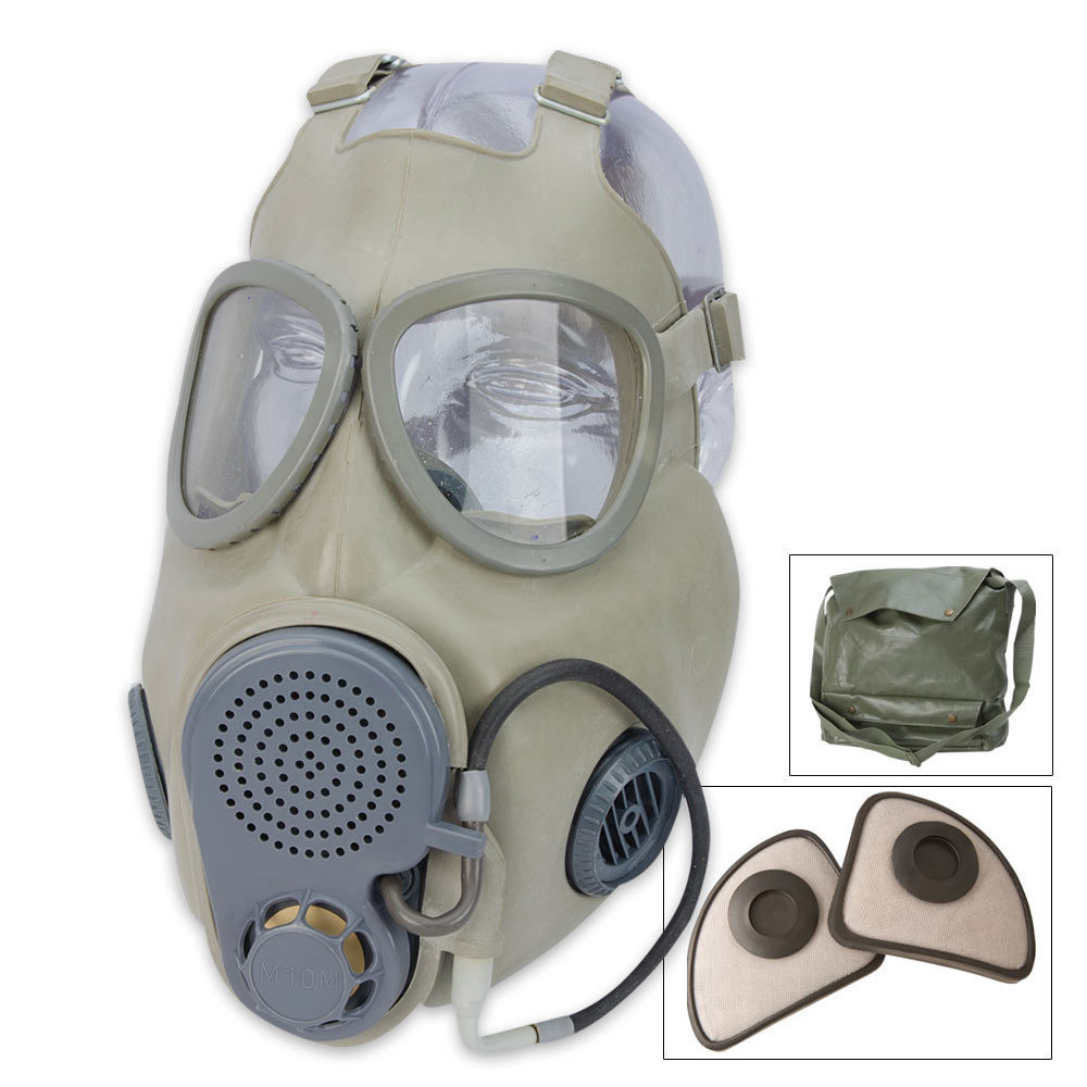 Lot 112: Military Surplus Czech M10M Gas Mask With Straw