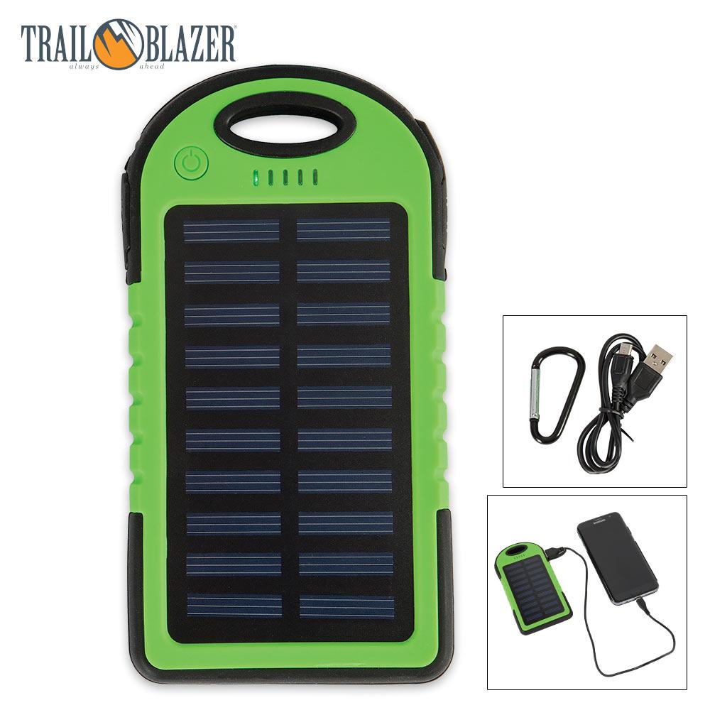 Trailblazer 5000 MAH Solar Charger And Power Bank