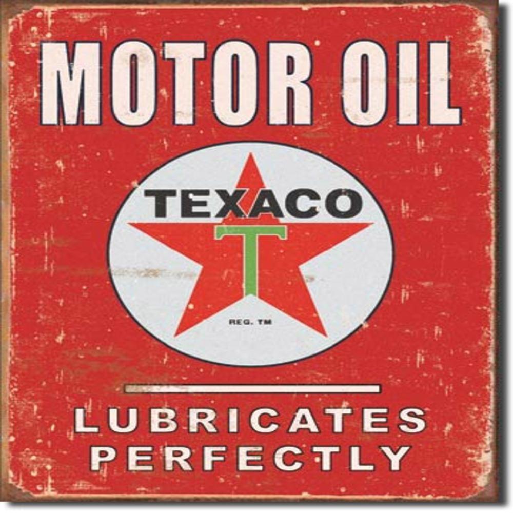 """Texaco - Lubricates Perfectly  12.5""""Wx16""""H"""