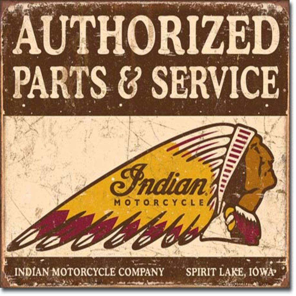 """Authorized Indian Parts and Service  16""""Wx12.5""""H  SKU # 1930"""