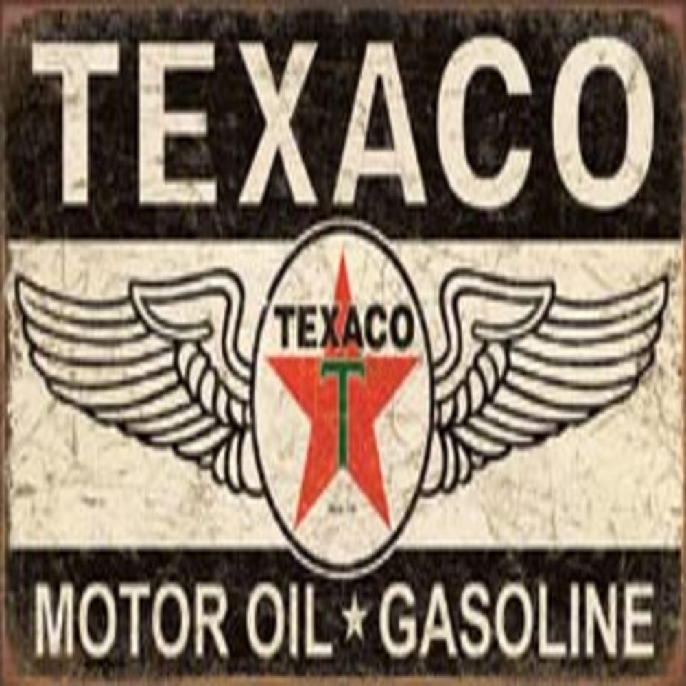 "Texaco Winged Logo  16""W x 8.5""H  SKU # 1896"