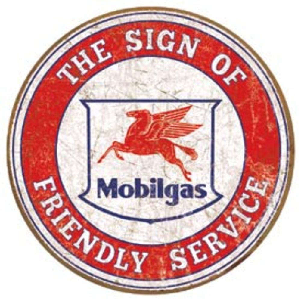 """Mobil - Friendly Service  11.75"""" Dia.  SKU # 2025"""