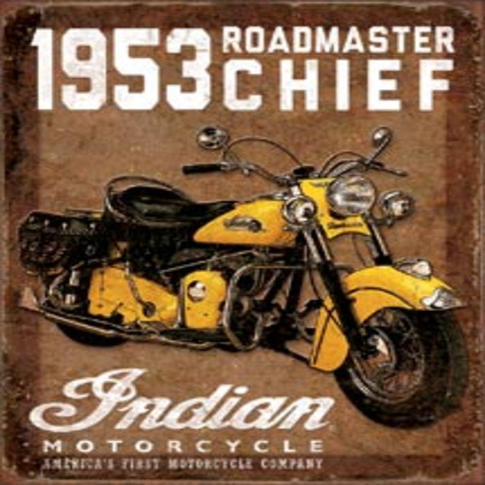 "1953 Indian Roadmaster  12.5""Wx16""H  SKU # 1932"