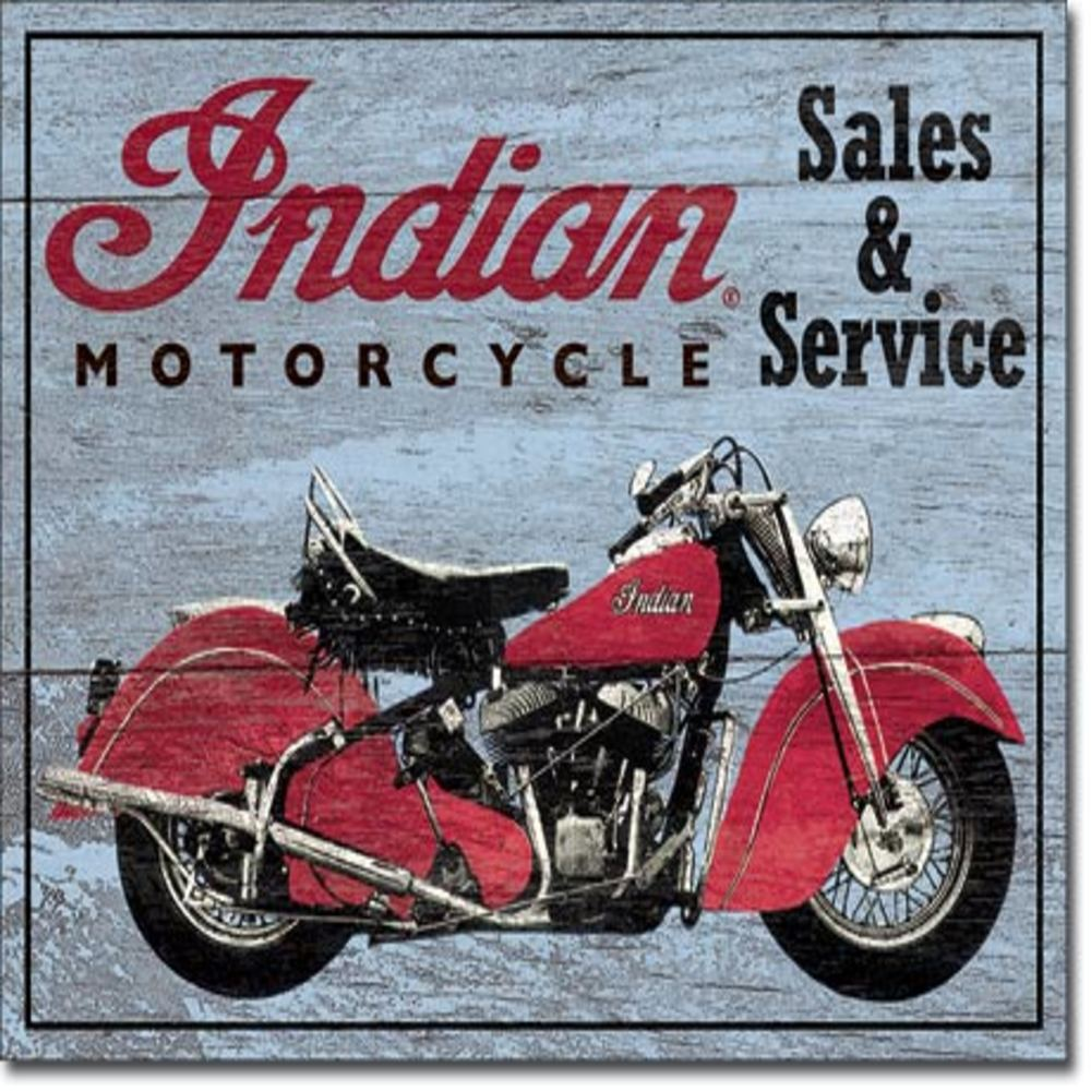 """Indian Parts and Service  16""""Wx12.5""""H  SKU # 1931"""