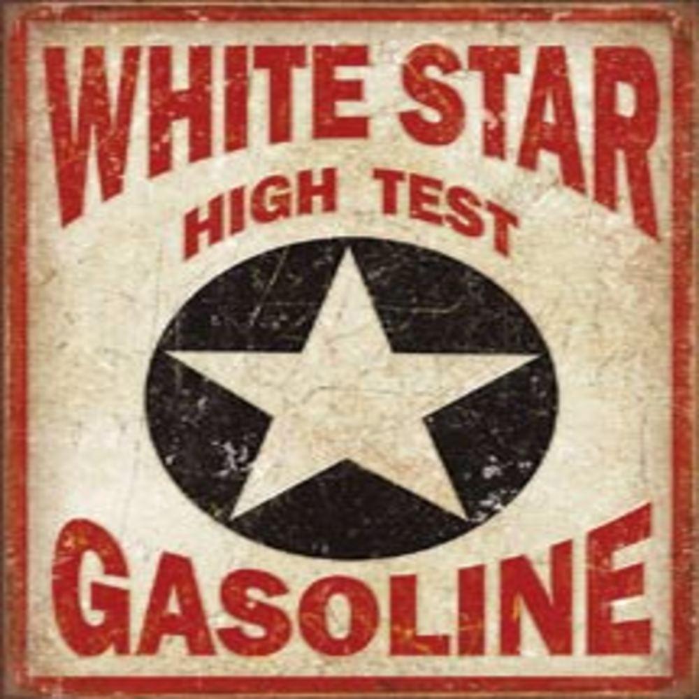"White Star Gasoline  12.5""Wx16""H  SKU # 1999"