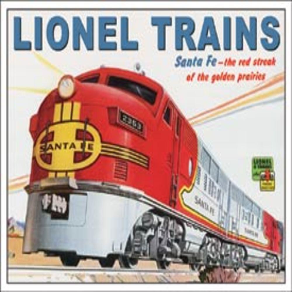 """Lot 278: Lionel Santa Fe 16""""Wx12.5""""H SKU # 2284"""