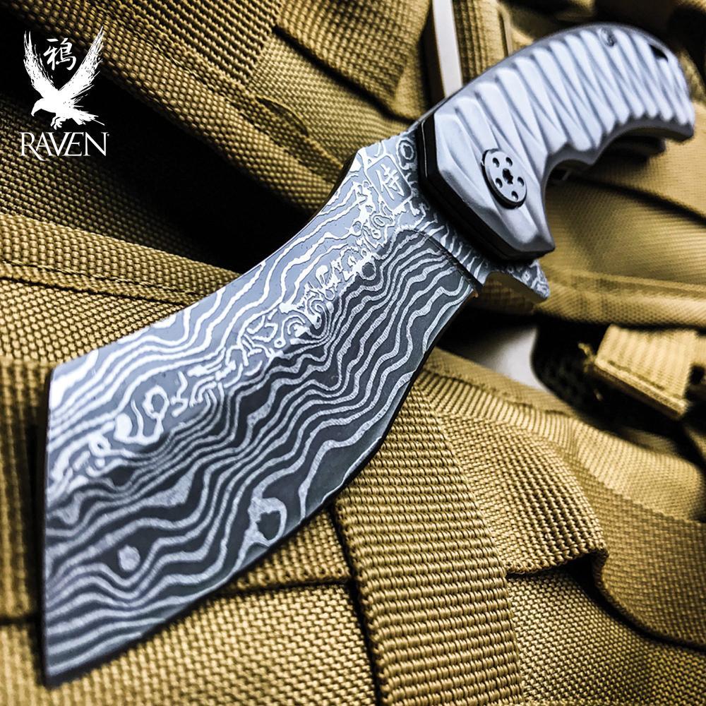 Silver Raven Samurai Razor Pocket Knife