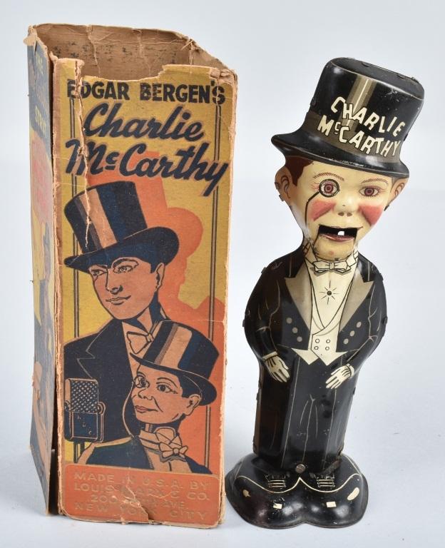 MARX Tin Windup CHARLIE McCARTHY STRUT w/BOX