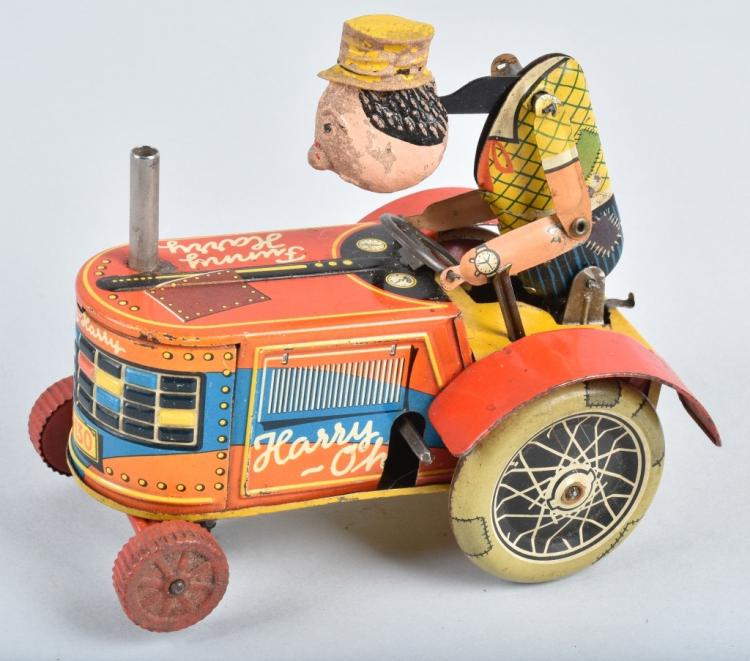 GAMA Tin Windup FUNNT HARRY TRACTOR