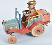 GERMAN Tin Windup CARZY CAR
