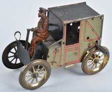 Early Tin Flywheel GERMAN HORSELESS CARRIAGE