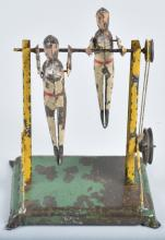GERMAN Painted Tin ACROBATS STEAM TOY ACCESSORY