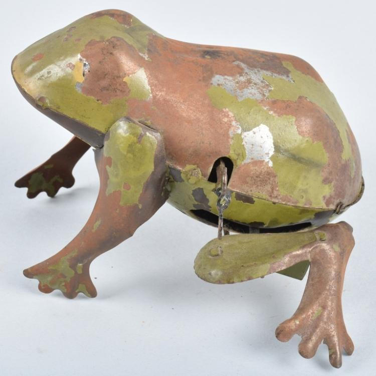 GERMAN Hand Painted Tin Windup FROG