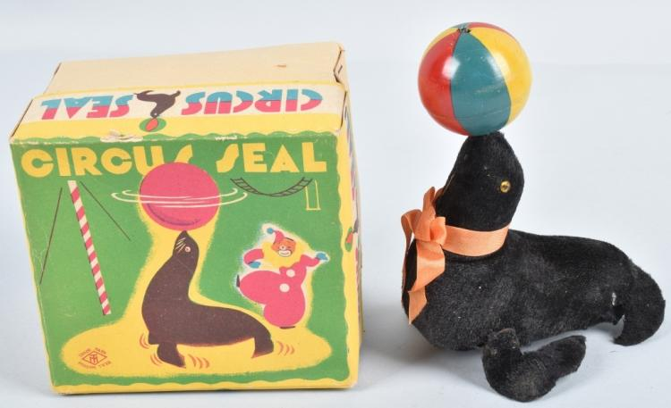 JAPAN Windup CIRCUS SEAL w/ BOX