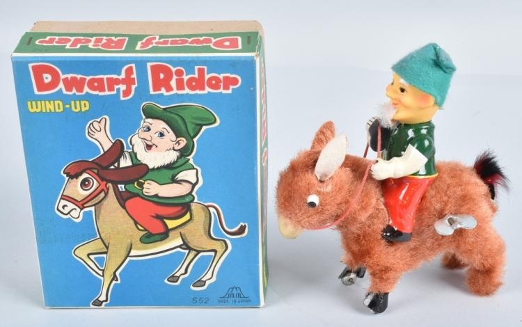 JAPAN Windup DWARF RIDER w/ BOX