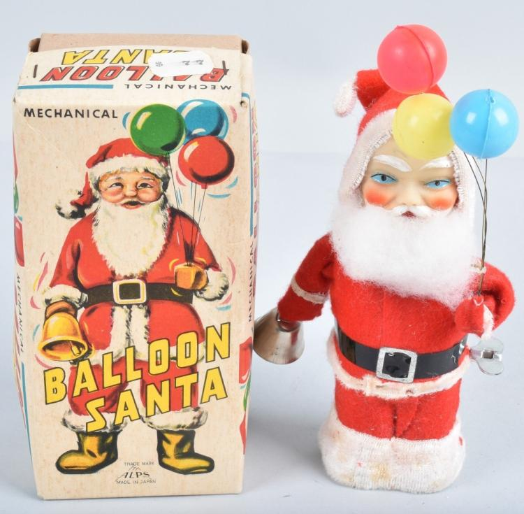 ALPS Windup BALLOON SANTA w/ BOX