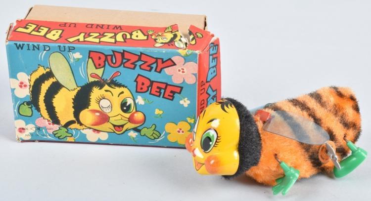JAPAN Windup BUZZY BEE w/ BOX