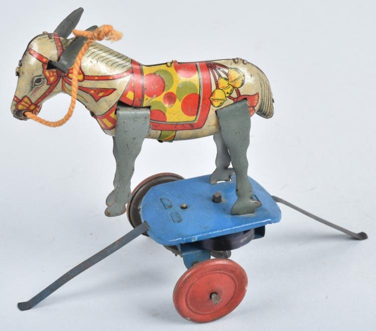 JAPAN Tin Windup CIRCUS DONKEY