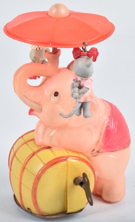 JAPAN Celluloid Windup ELEPHANT WHIRLY GIG