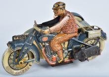 TIPP Tin Windup MOTORCYCLE WITH SIDECAR