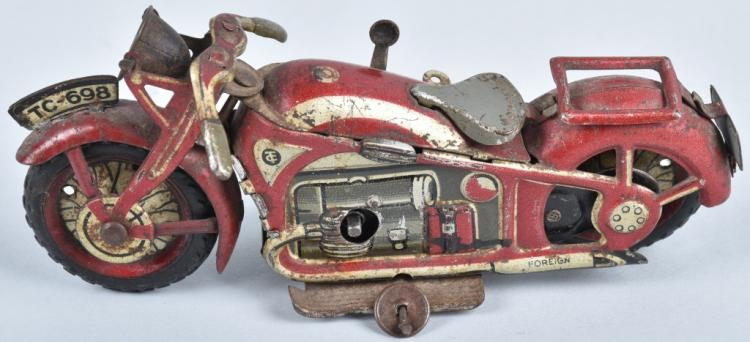 Tin Windup MOTORCYCLE Marked Foreign
