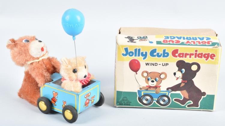 JAPAN Windup JOLLY CUB CARRIAGE w/ BOX
