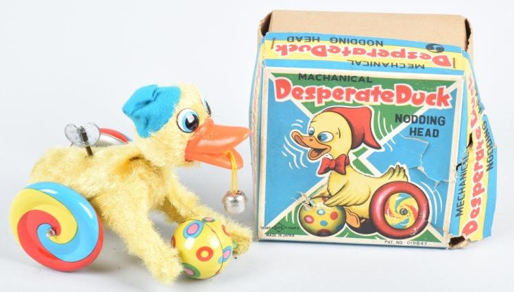 JAPAN Windup DESPERATE DUCK w/ BOX