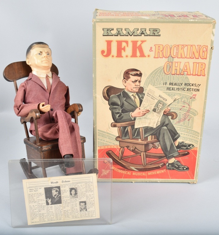 JAPAN Windup JFK & ROCKING CHAIR w/ BOX