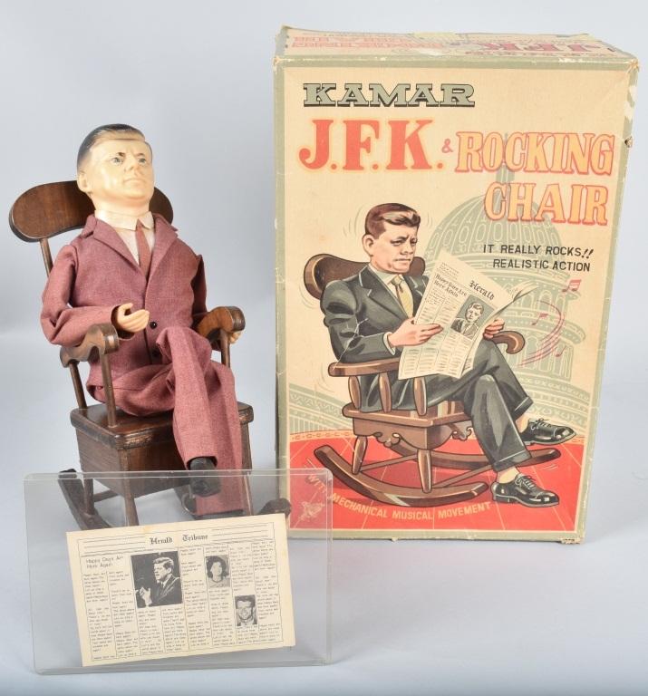 JAPAN Windup JFK & ROCKING CHAIR w/ BOX