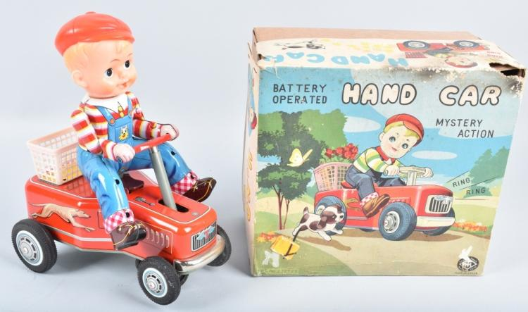 JAPAN Battery Op HAND CAR w/ BOX