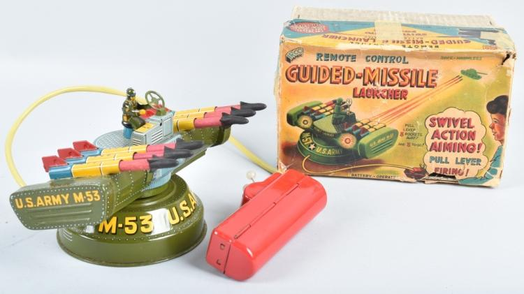 JAPAN Battery Op GUIDED MISSILE LAUNCHER w/BOX