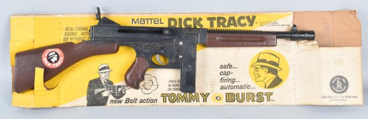 MATTEL DICK TRACY TOMMY GUN w/BOX