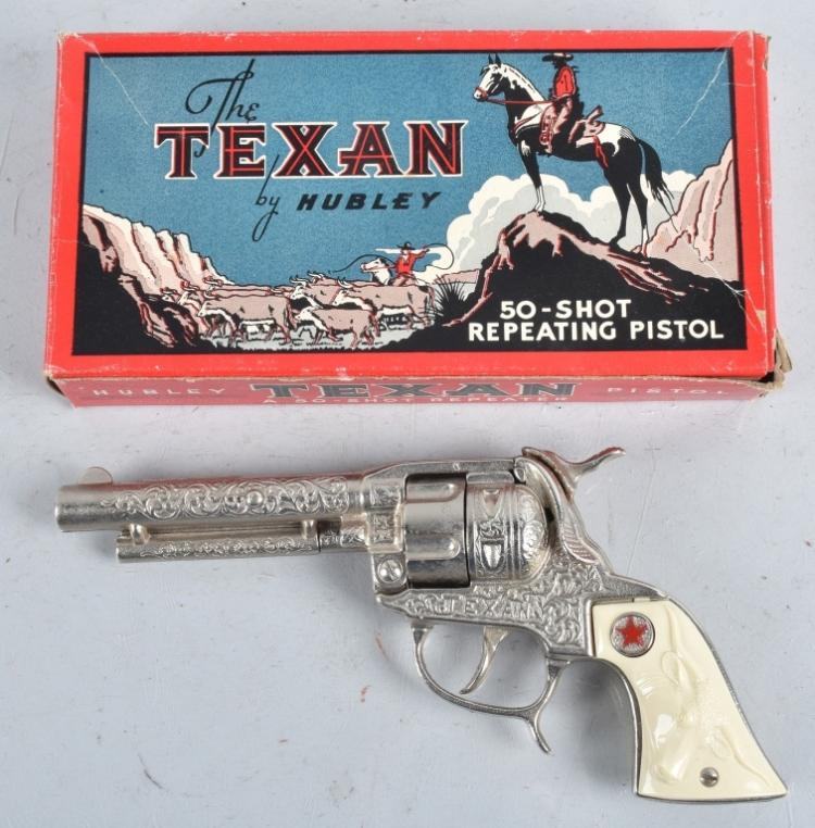 THE TEXAN CAP GUN By HUBLEY w/ BOX