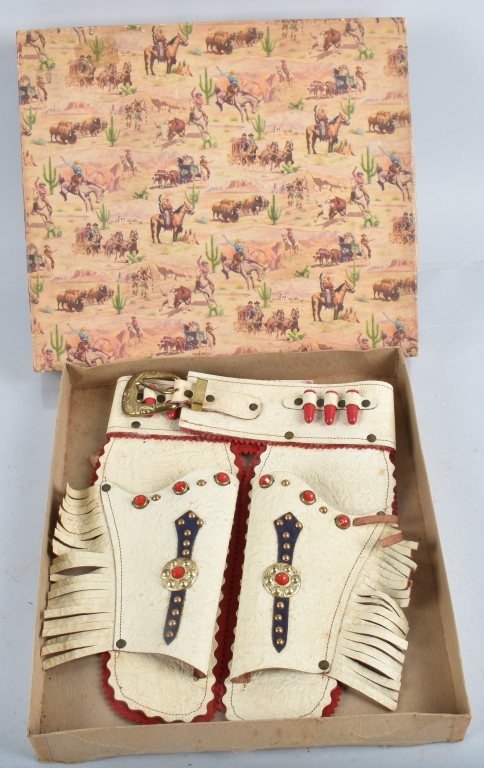 INDIAN LEATHER HOLSTER CO. HOLSTER SET w/ BOX