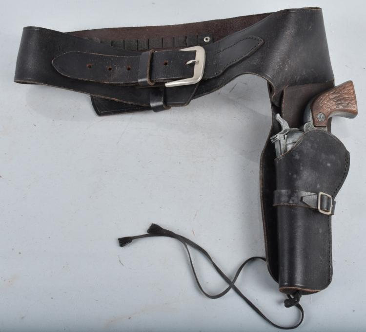 IDEAL MARSHALL CAP GUN & LEATHER HOLSTER