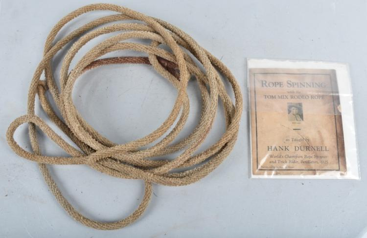 TOM MIX RODEO ROPE w/ BOOKLET