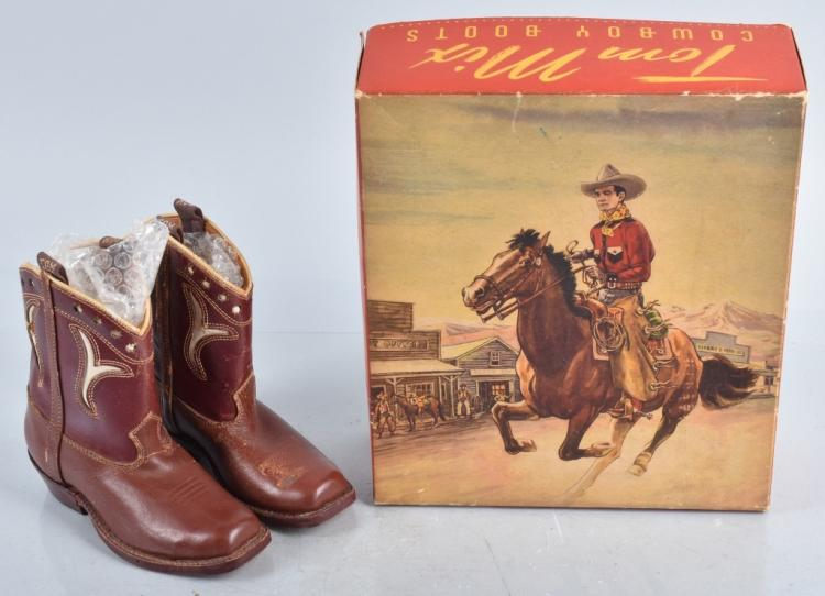 TOM MIX COWBOY BOOTS w/ BOX