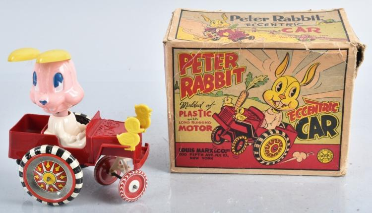 MARX Windup PETER RABBIT CAR w/ BOX