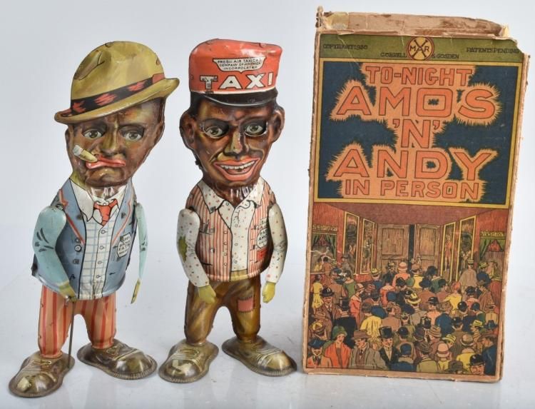 MARX Tin Windup AMOS & ANDY WALKERS w/ BOX