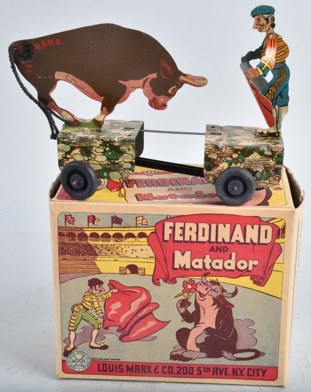 MARX Tin Windup FERDINAND & MATADOR w/ BOX