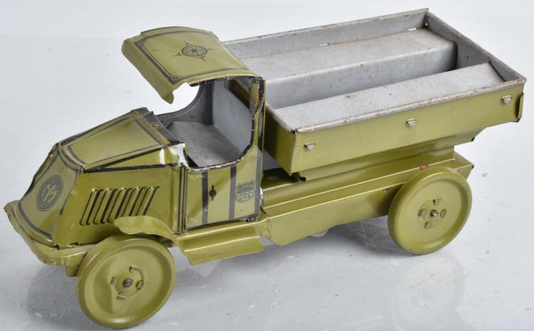 CHEIN Tin BULLDOG MACK TRANSPORT TRUCK