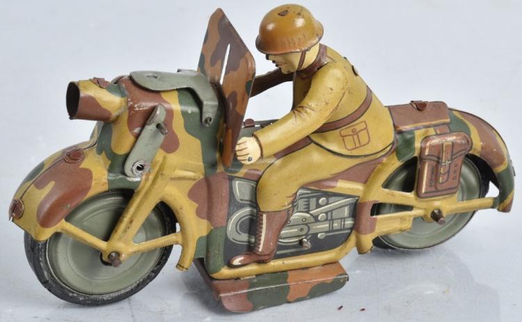 JAPAN Tin Windup MILITARY MOTORCYCLE