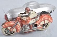 GUNTHERMAN Tin Windup MOTORCYCLE w/ SIDECAR