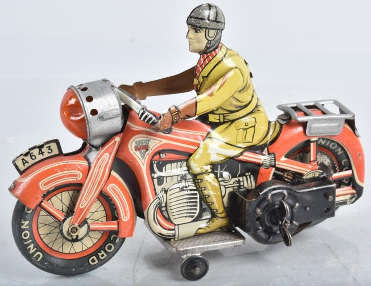 US Zone Germany ARNOLD Tin Windup MOTORCYCLE