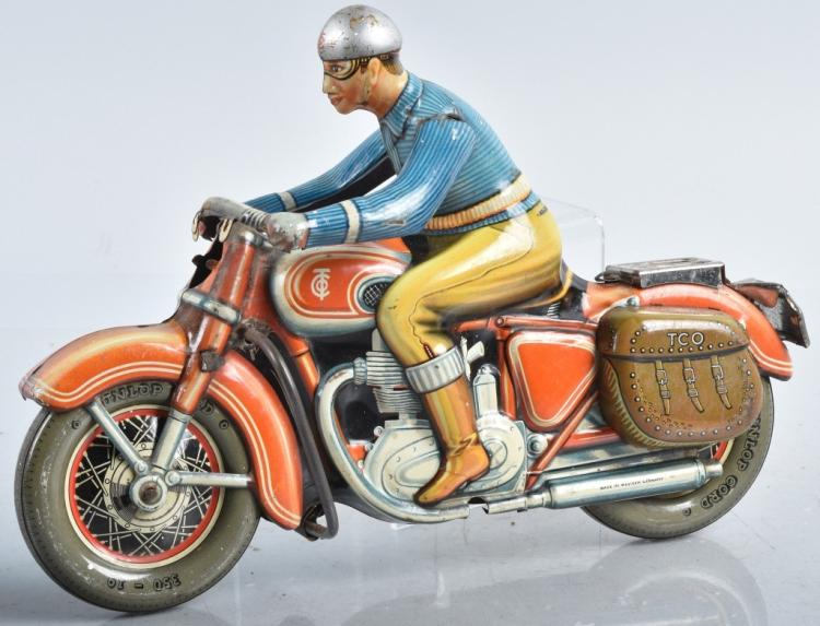 Large TIPP CO Tin Friction CIVILIAN MOTORCYCLE