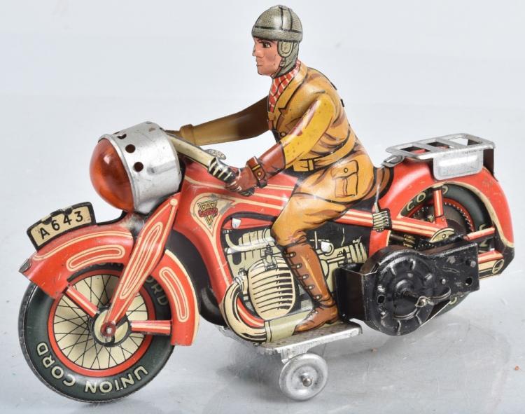 US Zone Germany ARNOLD Tin Windup MOTORCYCLE