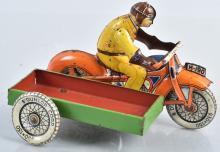 HUKI Tin Windup MOTORCYCLE w/ SIDE CART
