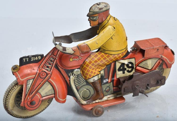 ENGLISH Tin Windup #49 RACING MOTORCYCLE