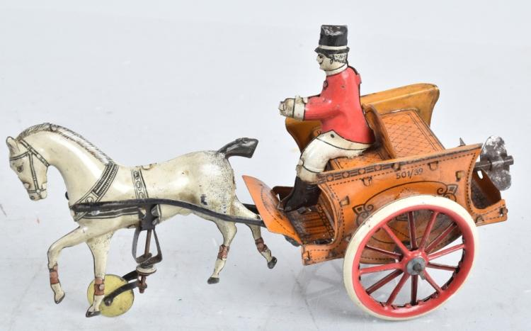 G&K Tin Windup HORSE CART